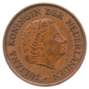 (W172.005.1965.1.ttb.000000001) 5 Cent Queen Juliana 1965 Obverse (zoom)