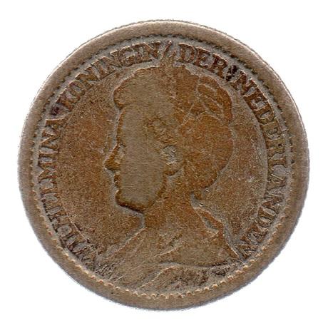 (W172.025.1915.1.b+.000000001) 25 cents Wilhelmine 1915 Avers