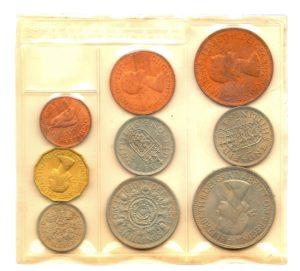 (W185.CofUNC.1953.1.000000001) Uncirculated coin set United Kingdom 1953 Back (zoom)