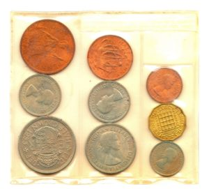 (W185.CofUNC.1953.1.000000001) Uncirculated coin set United Kingdom 1953 Front (zoom)