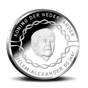 10 euro Netherlands 2017 UNC - 50th anniversary of King Willem-Alexander Obverse (zoom)