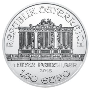 1,50 euro Austria 2018 1 ounce fine silver - Vienna Philharmonic Orchestra Obverse (zoom)
