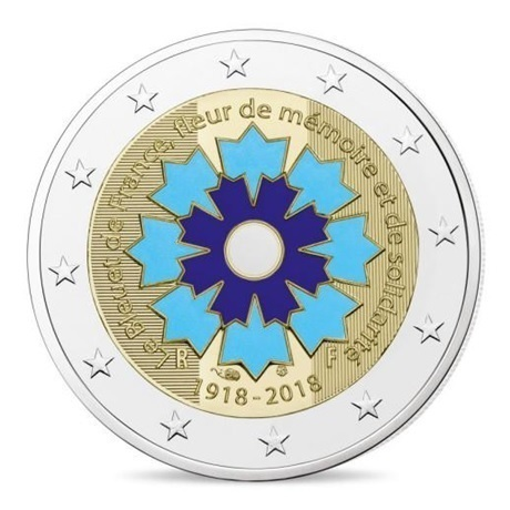 2 euro commémorative France 2018 BE - Bleuet Avers