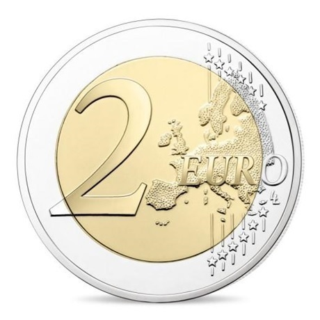 2 euro commémorative France 2018 BE - Bleuet Revers