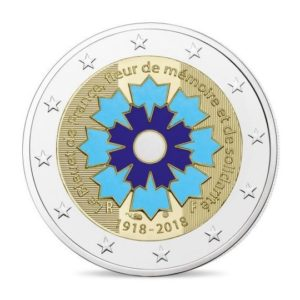 2 euro commemorative coin France 2018 Proof - Cornflower Obverse (zoom)