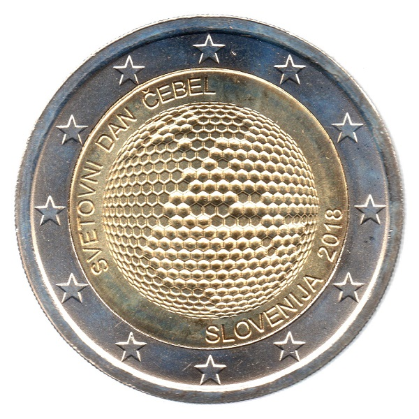 (EUR16.200.2018.COM1.spl.000000001) 2 euro Slovenia 2018 - World Bee Day Obverse (zoom)