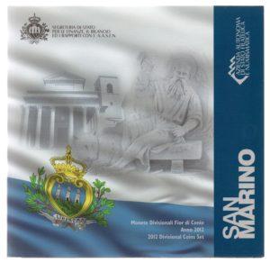 (EUR18.CofBU&FDC.2012.Cof-BU.000000001) Brilliant Uncirculated coin set San Marino 2012 Front (zoom)