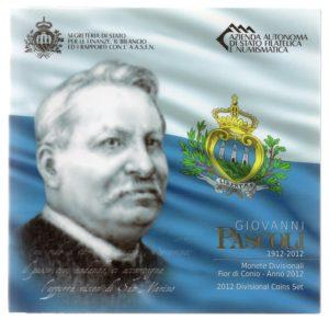 (EUR18.CofBU&FDC.2012.Cof-BU.1.000000001) BU coin set San Marino 2012 (Giovanni Pascoli) Front (zoom)