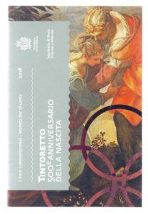 (EUR18.ComBU&BE.2018.200.BU.COM1.000000002) 2 euro commemorative coin San Marino 2018 BU - Tintoretto Front (zoom)