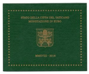 (EUR19.CofBU&FDC.2018.Cof-BU.000000002) BU Coin set Vaticano 2018 Front (zoom)