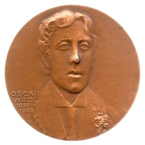 (FMED.Méd.MdP.1981.CuSn1.spl.000000001) Bronze medal - Oscar Wilde Obverse (zoom)