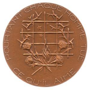 (FMED.Méd.MdP.1981.CuSn1.spl.000000001) Bronze medal - Oscar Wilde Reverse (zoom)