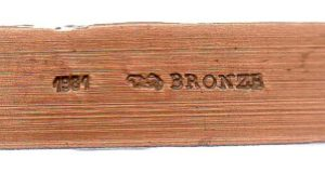 (FMED.Méd.MdP.1981.CuSn1.spl.000000001) Bronze medal - Oscar Wilde (edge) (zoom)