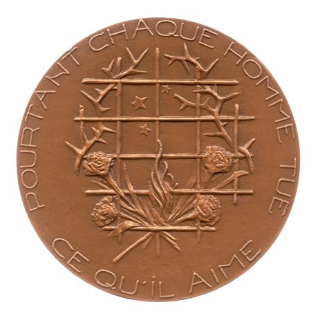 (FMED.Méd.MdP.1981.CuSn1.spl.000000001) Médaille bronze - Oscar Wilde Revers