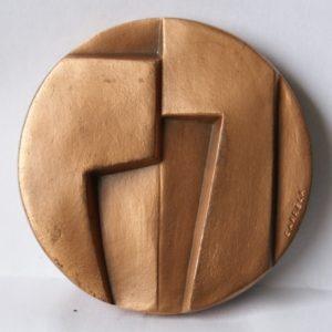 (FMED.Méd.MdP.Cu-1.cp7.000000001) Médaille cuivre - Dialogue, par Carréga Avers