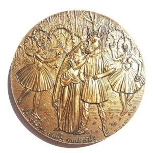 (FMED.Méd.MdP.CuSn105.1.spl.000000001) Bronze medal - Felix Mendelssohn Reverse (zoom)