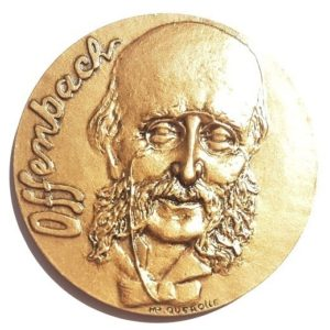 (FMED.Méd.MdP.CuSn118.-1.spl.000000001) Bronze medal - Jacques Offenbach Obverse (zoom)