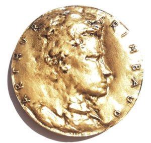(FMED.Méd.MdP.CuSn12.1.spl.000000001) Bronze medal - Arthur Rimbaud Obverse (zoom)