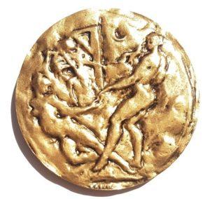 (FMED.Méd.MdP.CuSn12.1.spl.000000001) Bronze medal - Arthur Rimbaud Reverse (zoom)