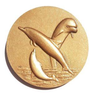 (FMED.Méd.MdP.CuSn33.1.spl.000000001) Bronze medal - Dolphin Reverse (zoom)