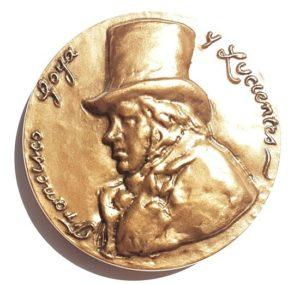 (FMED.Méd.MdP.CuSn52.1.spl.000000001) Bronze medal - Francisco Goya y Lucientes Obverse (zoom)