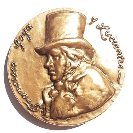 (FMED.Méd.MdP.CuSn52.1.spl.000000001) Médaille bronze - Francisco de Goya Avers