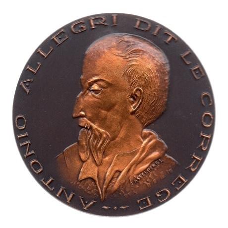 (FMED.Méd.MdP.CuSn83.2.spl.000000001) Médaille bronze patiné - Le Corrège Avers