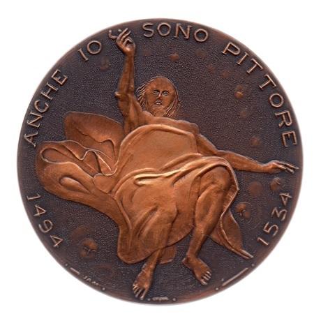(FMED.Méd.MdP.CuSn83.2.spl.000000001) Médaille bronze patiné - Le Corrège Revers