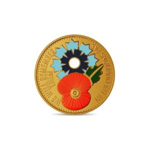 (FMED.Méd.souv.n.d._2018_.CuAlNi1) Memory token - Poppy and cornflower Obverse (zoom)