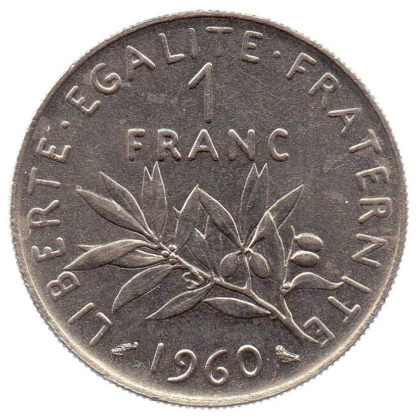 1 Franc Semeuse 1960 Gros 0