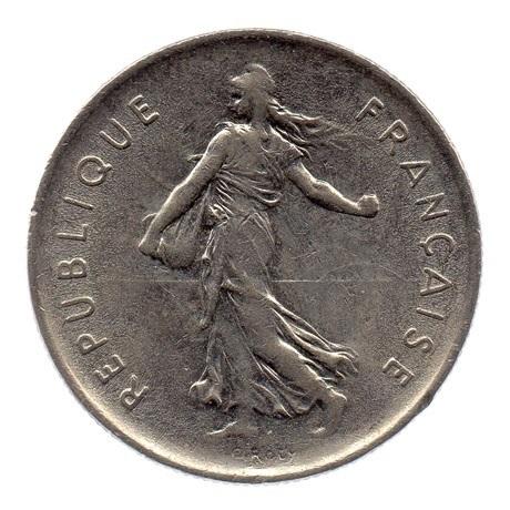 (FMO.5.1971.51.2.ttb.000000001) 5 Francs Semeuse 1971 Avers