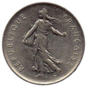 (FMO.5.1971.51.2.ttb.000000001) 5 Francs Sower 1971 Obverse (zoom)