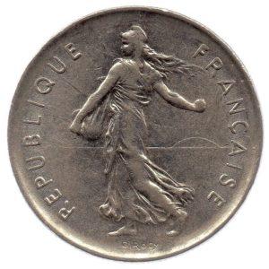 (FMO.5.1971.51.2.ttb.000000003) 5 Francs Sower 1971 Obverse (zoom)