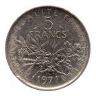 (FMO.5.1971.51.2.ttb.000000005) 5 Francs Semeuse 1971 Revers