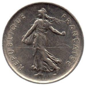(FMO.5.1971.51.2.ttb.000000005) 5 Francs Sower 1971 Obverse (zoom)