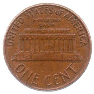 (W071.001.1961_D.1.1.ttb.000000001) 1 cent Abraham Lincoln 1961 D Reverse (zoom)