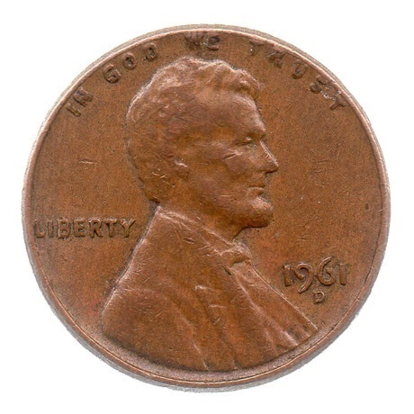 (W071.001.1961_D.1.1.ttb.000000001) 1 cent Lincoln 1961 D Avers