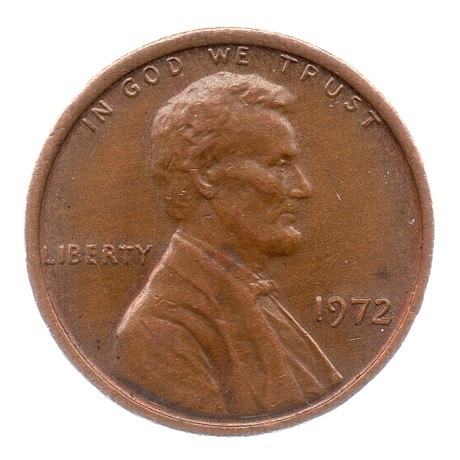 (W071.001.1972.1.ttb.000000001) 1 cent Lincoln 1972 Avers