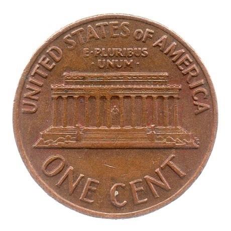 (W071.001.1972.1.ttb.000000001) 1 cent Lincoln 1972 Revers