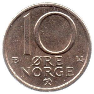 (W161.010.1979.1.ttb.000000001) 10 Ore King Olav V's monogram 1979 Reverse (zoom)