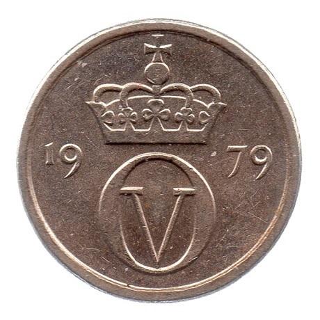 (W161.010.1979.1.ttb.000000001) 10 Ore Monogramme d'Olav V 1979 Avers