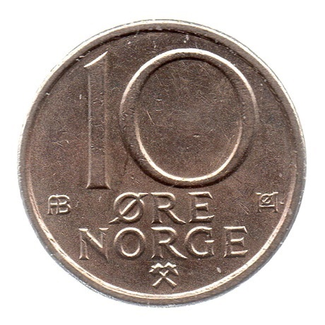 (W161.010.1979.1.ttb.000000001) 10 Ore Monogramme d'Olav V 1979 Revers