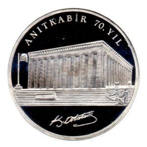 (W228.3500.2008.BU&BE.COM1.2505) 35 Lira Mausoleum 2008 - Proof silver Reverse (zoom)