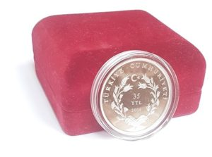 (W228.3500.2008.BU&BE.COM1.2505) 35 Lira Mausoleum 2008 - Proof silver (closed box) (zoom)