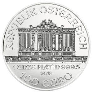 100 euro Austria 2018 1 ounce platinum - Vienna Philharmonic Orchestra Obverse (zoom)