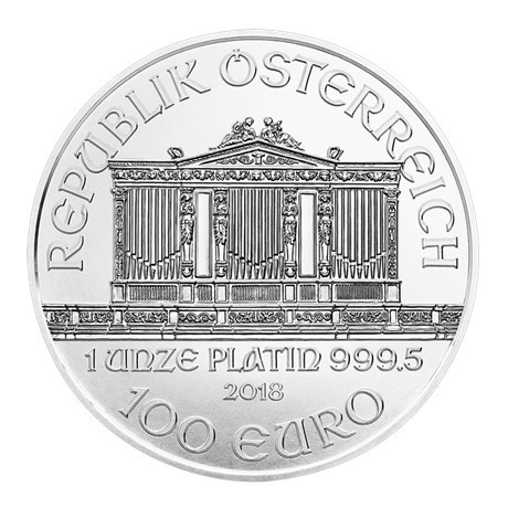 100 euro Autriche 2018 1 once platine - Philharmonique Avers