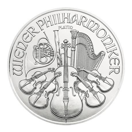 100 euro Autriche 2018 1 once platine - Philharmonique Revers