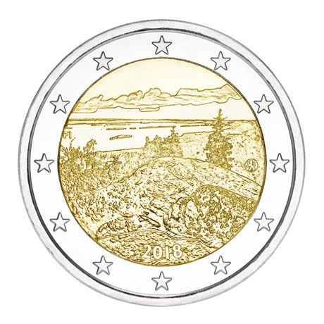 2 euro commémorative Finlande 2018 - Parc national de Koli Avers