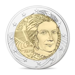 2 euro commemorative coin France 2018 Proof - Simone Veil Obverse (zoom)