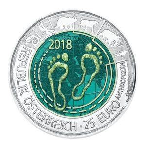 25 euro Autriche 2018 - Anthropocène Avers